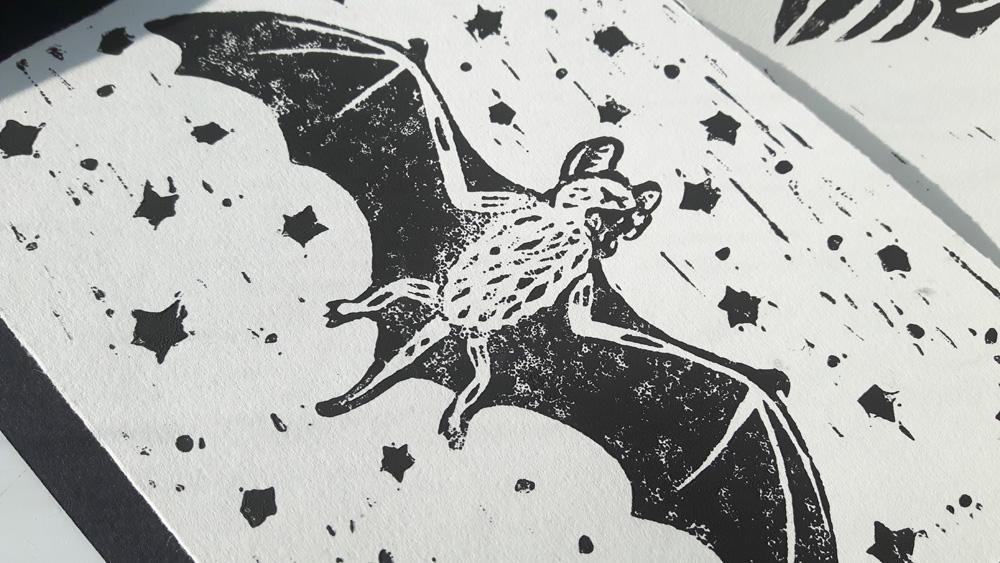 Aiden Smeaton - Bat Lino Print